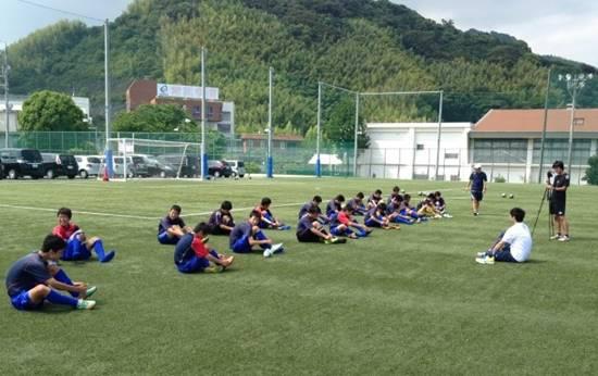 常葉橘中学サッカー部の初回サポート報告1